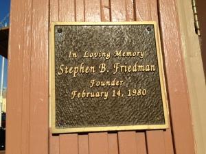 For Steve Friedman, outside The Corner entrance