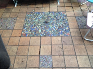 Original tile work on back patio