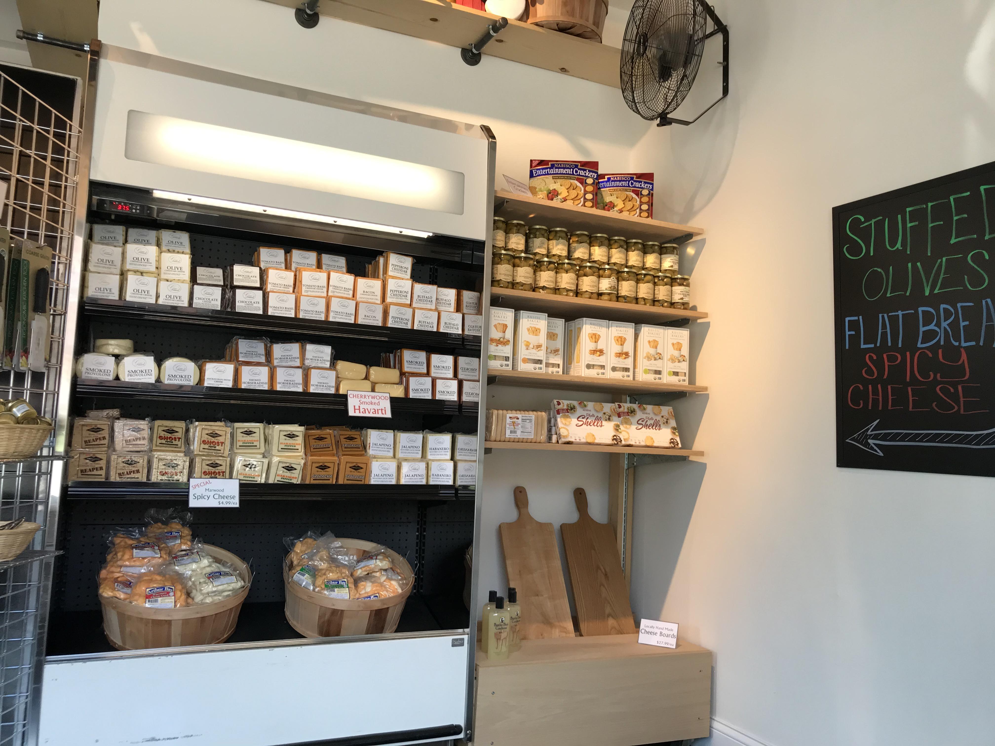 Geo's cheese display